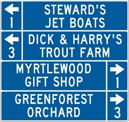 Picture of a Tourist Oriented Directional Sign example